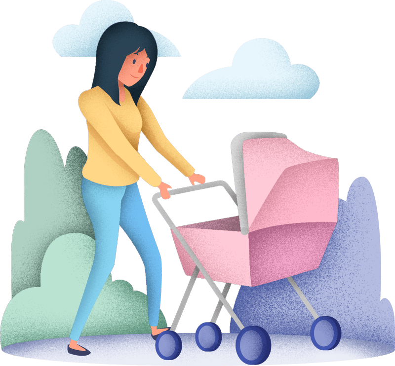 Nappy Heroes Mother and Stroller