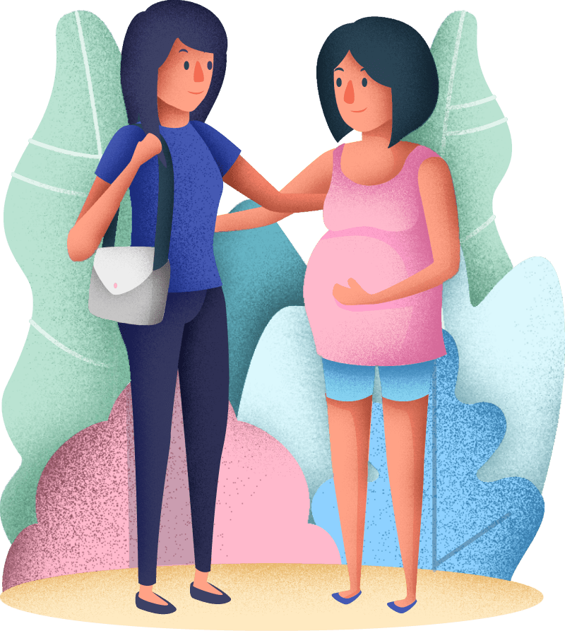 Nappy Heroes Pregnant Friends Image